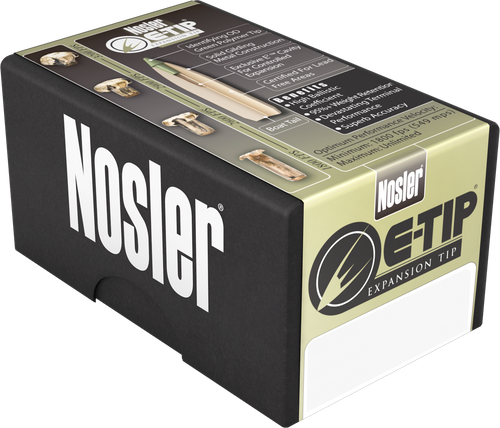 Nosler E-Tip 6.5 Creedmoor 120gr, E-Tip Lead-Free, 20rd Box