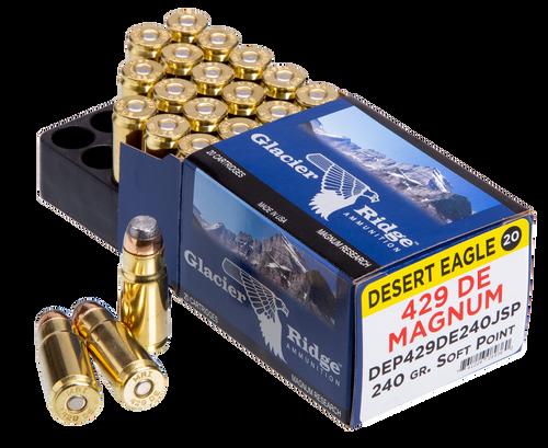 Magnum Research Desert Eagle 429 DE Magnum 240gr, Jacketed Soft Point, 20rd Box