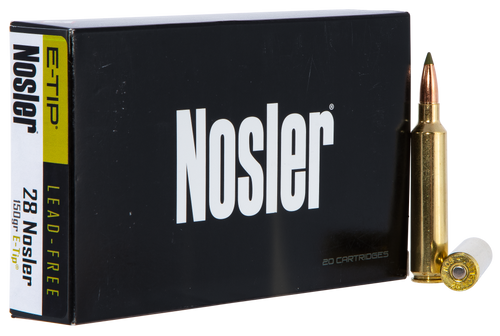 Nosler E-Tip 28 Nosler 150gr, E-Tip Lead-Free, 20rd Box