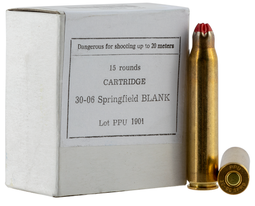 PPU Blank Standard Case 30-06 Springfield, 15rd Box - Not Ammo, These Are Blanks