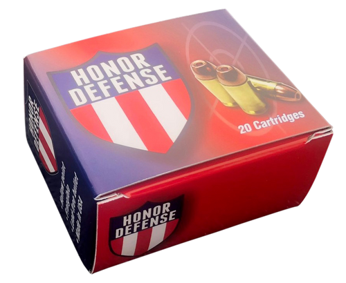Honor Defense 40 S&W 125gr, Hollow Point Frangible, 20rd Box
