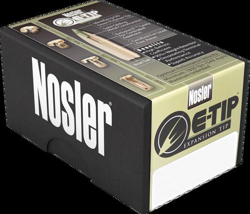 Nosler E-Tip 9.3mmx62 Mauser 250gr, E-Tip Lead-Free, 20rd Box