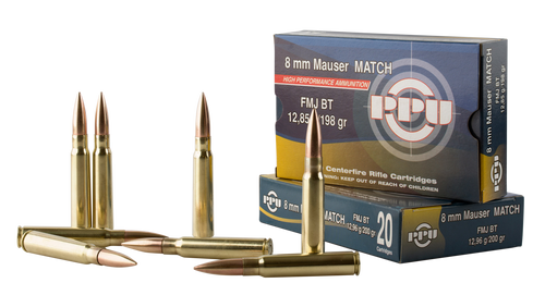 PPU Metric Rifle 8mm Mauser 198gr, Full Metal Jacket, 20rd Box