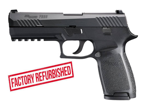 Sig P320 Full Sized, 9mm, Refurbished Police Trade-In, Night Sights, 17rd Mag