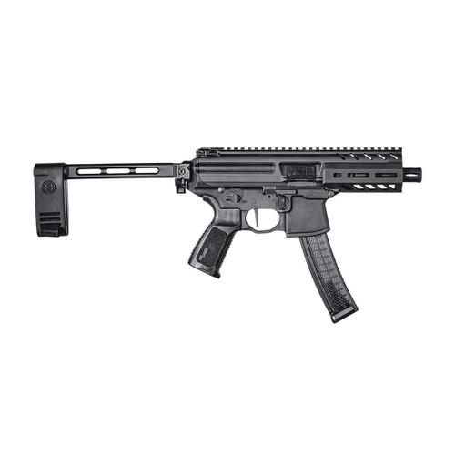 "Sig MPX Copperhead 9mm, 4.5"" Barrel, Aluminum Frame, Black, Pivoting Contour Brace, 20rd"