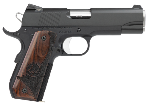"Dan Wesson Guardian 38 Super 4.25"" Barrel Black Duty Finish Stainless Steel Wood Grip, 9rd Mag"