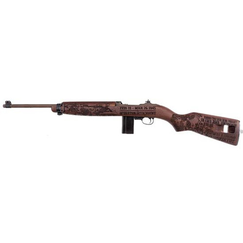 "Auto Ordnance Iwo Jima Commemorative M1 Carbine Rifle, 30 Carbine, 18"" Barrel, Olive DrabGreen under Distressed Copper Cerakote, Engraved Walnut Stock, 15Rd, Features Engravings memorializing ""Operation Detachment"" on Iwo Jima"