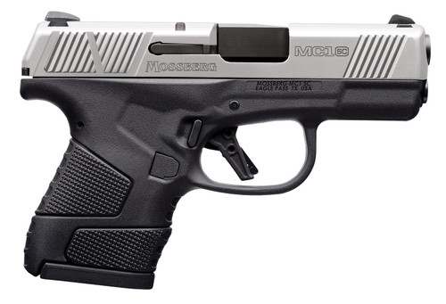 "Mossberg MC1sc Sub-Compact 9mm, 3.4"" Barrel, 2-Tone, Manual Safety, 3 Dot, 6rd-7rd Mags"