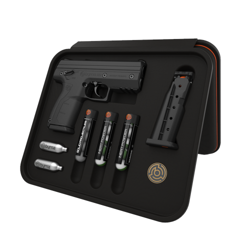 Byrna HD Ready Kit - Black (NY,MA,MN Legal) Non-Lethal Self Defense Weapon, 2- 5rd Mags, No Permits or Background Checks