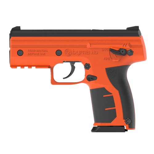 Byrna HD Max Kit - Safety Orange Non-Lethal Self Defense Weapon, 2- 5rd Mags, No Permits or Background Checks