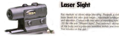 BSA Laser 650 nm Intensity 3 in @ 100 Yards 100yds 3 1.5 V LR44 Battery