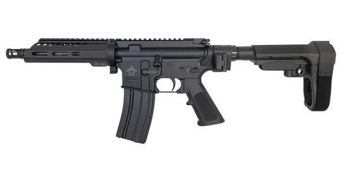 "Diamondhead Transporter Pistol 5.56/.223, 7.5"" Barrel, Folder, SBA3, Black, 30rd"