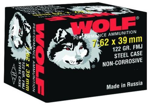 Wolf Performance 7.62X39 Bimetal FMJ 122gr, 1000rd/Case