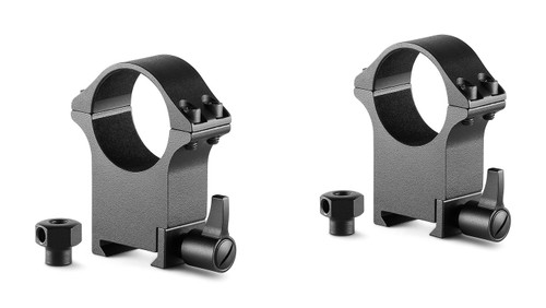 Hawke Professional Steel Ring Mounts 30mm, Extra High, With Lever (Fitted) & Nut