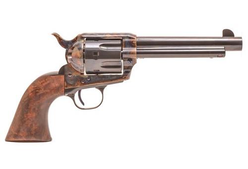 "Standard Mfg Single Action Revolver 45 Colt 4.75"" Barrel, Blue/Case Hardened, Walnut 1 Pc Grip"