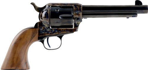"Standard Mfg Single Action Revolver 45 Colt 4.75"" Barrel, Blue/Case Hardened, Walnut 2 Pc Grip"