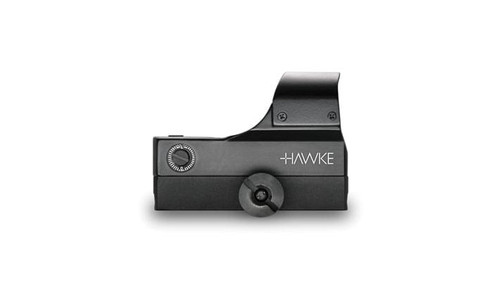 Hawke Reflex Red Dot Sight Large - Wide Angle, (5Moa) Weaver, 5 Stage Brightness