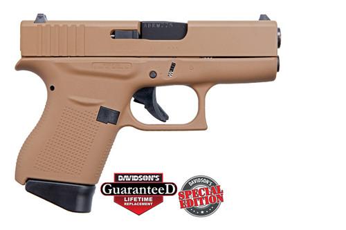 "Glock 43 9mm, Apollo Custom, 3.39"" Barrel Davidson Dark Earth Full Coverage, 2x 6rd Mags"