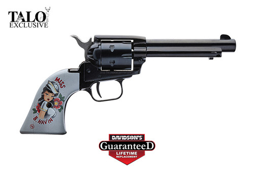 "Heritage Rough Rider Miss B. Hav'in 22 LR, 4.75"" Barrel, Blue Finish, Special Grips, TALO Edition"