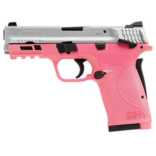 "Smith & Wesson M&P Shield EZ .380 ACP, 3.6"" Barrel, Prison Pink, Silver Slide, 8rd"