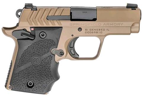 Springfield 911 Micro Compact 9mm Desert Flat Dark Earth, Hogue Grips, 2xMags