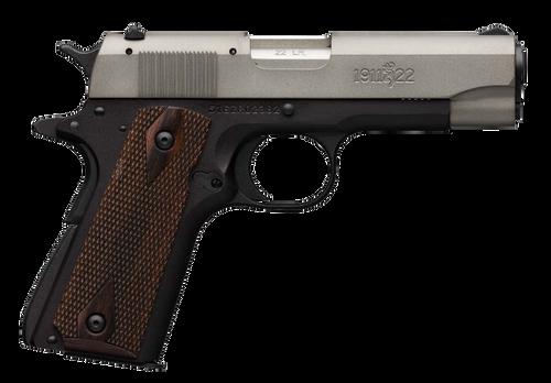 "Browning 1911-22 A1 Compact 22 LR 3.63"" Barrel Diamondwood Walnut Grips 10rd Mag"