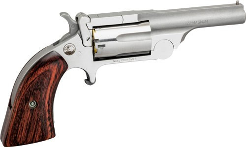 "NAA Ranger II 22 LR/22 Mag 2.50"" 5rd Stainless Rosewood Bird's Head Grip"