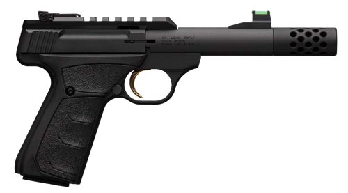 "Browning Buck Mark Plus Micro Bull- Suppressor Ready 22 LR 4.40"",  Matte Black Aluminum Slide Black Ultragrip FX Grip,  10 rd"