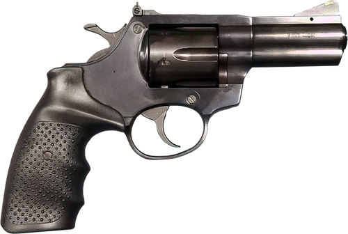 "Rock Island AL9.0, Revolver, DA/SA, Medium Frame, 9mm, 3"" Barrel, Steel Frame, Black, Rubber Grip, Adjustable Rear Sight, 6Rd"