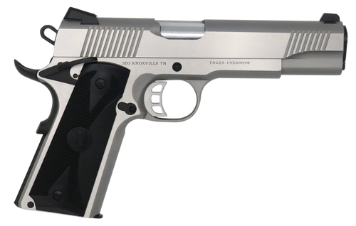 "Tisas 1911-S 45 ACP, 5"" Barrel, Steel Frame, Stainless Finish, Novak Style 3-Dot Sights, 8Rd"