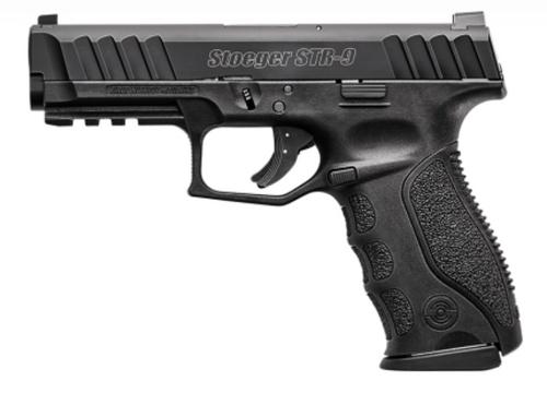 """Stoeger STR-9 9mm, 4.17"""" Barrel, Night Sights, Black, 3x 10rd"""