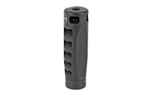 "Ultradyne Apollo S Compensator Muzzle Brake with Timing Nut, AR, 223/556, 1/2""-28 Thread, .975"" Outside Diameter, Steel Nitride"