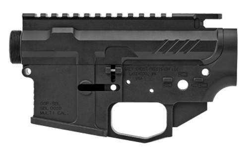 Grey Ghost AR-15 Billet Receiver Set, 223 Rem/5.56mm, Black, Flared Magazine Well, Functions with Nearly all Available AR-15 Parts