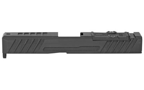 Grey Ghost Stripped Slide Glock 19 Gen3, Dual Optic Cutout Fits Leupold DeltaPoint Pro or Trijicon RMR, Shim Plate (Screws Incl.), G10 Cover Plate And Proper Screws