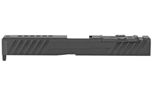 Grey Ghost Stripped Slide Glock 17 Gen3, Dual Optic Cutout Fits Leupold DeltaPoint Pro or Trijicon RMR, Shim Plate (Screws Incl.), G10 Cover Plate And Proper Screws GGP173OCV3