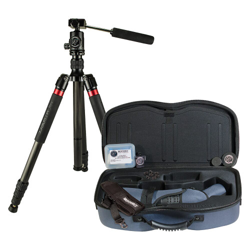Nightforce Kit - Ts-82 - Xtreme Hi-Def - Angled - With 20-70X Eyepiece, Case, Sleeve, Cleaning Kit, Fob LensCloth, Grommet Kit, Carbon Fiber Tripod With Head