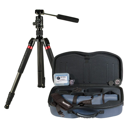 Nightforce Kit - Ts-82 - Xtreme Hi-Def - Straight - With 20-70X Eyepiece, Case, Sleeve, Cleaning Kit, Fob Lens Cloth, Grommet Kit, CarbonFiberTripodWithHead