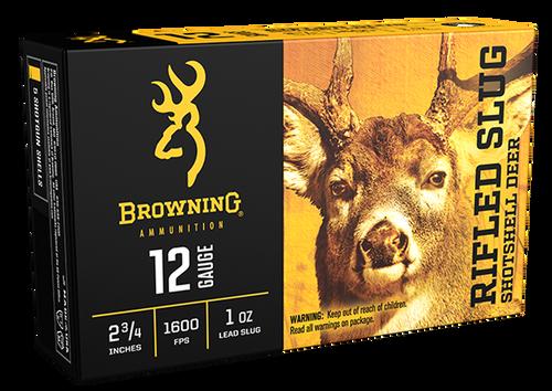 "Browning Rifled Slug 12 Ga, 2.75"", 1oz, 1 Shot, 5rd Box"