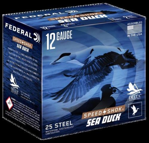 """Federal Speed-Shok Sea Duck 12 Ga, 3"""", 1 1/4oz, 4 Shot, 25rd Box"""