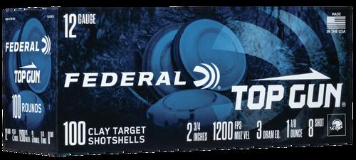 """Federal Top Gun, 12 Ga 2.75"""", #8, 1 1/8 oz, 100rd Box"""