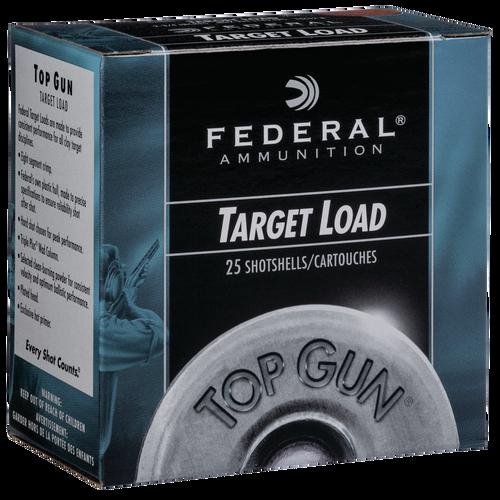 """Federal Top Gun 12 Ga, 2.75"""", 1 1/8oz, 8 Shot, 25rd Box"""