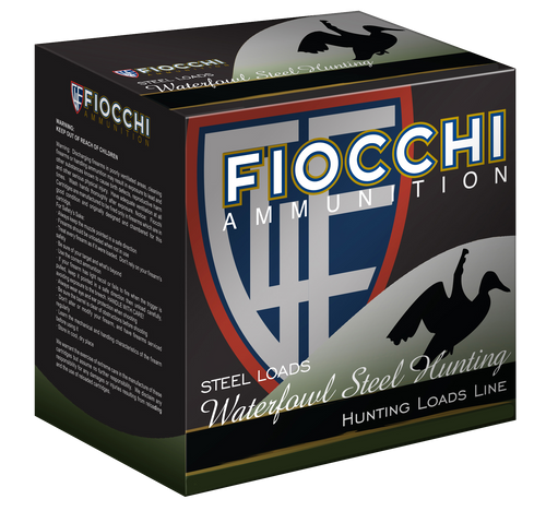 "Fiocchi Shooting Dynamics Waterfowl 12 Ga, 3"", 1 1/5oz, 4 Shot, 25rd Box"
