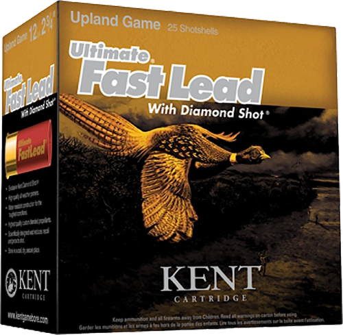 "Kent Cartridge Ultimate FastLead Upland 12 Ga, 3"", 6 shot 1-3/4oz, 25rd Box"