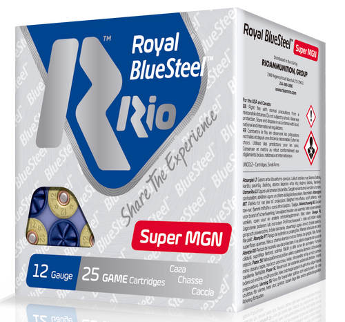 "Rio Royal BlueSteel Super Magnum 12 Ga, 3.5"", 1-3/8oz, 2 Shot, 25rd Box"