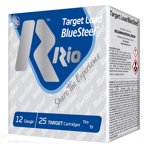 "Rio Target Load BlueSteel 12 Ga, 2.75"", 1oz, 7 Shot, 25rd Box"