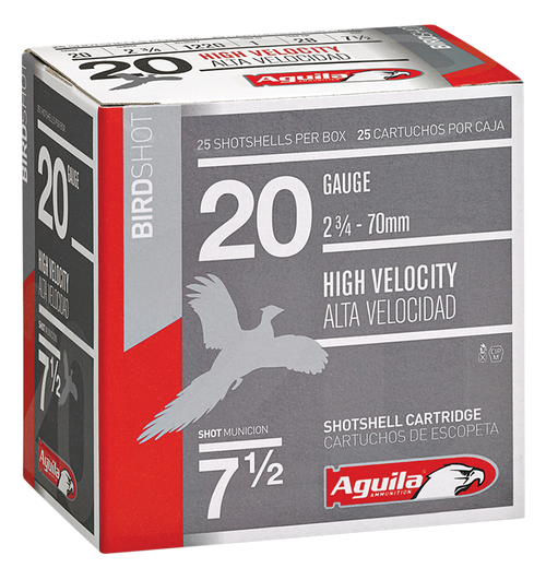 "Aguila Field 20 Ga, 2.75"", 1oz, 8 Shot, 25rd Box"
