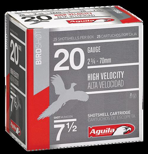 """Aguila Field 20 Ga, 2.75"""", 1oz, 8 Shot, 25rd Box"""