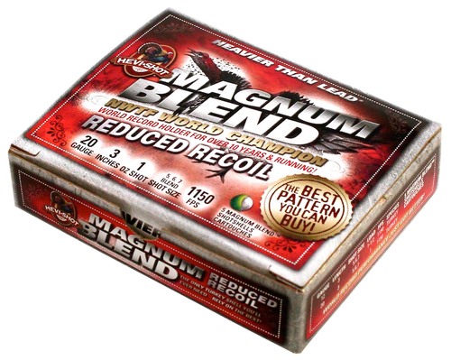 "Hevishot Magnum Blend 20 Ga, 3"", 1oz, 5,6,7 Shot, 5rd Box"
