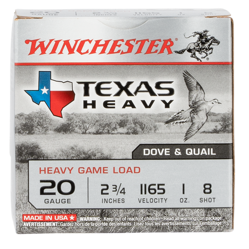 "Winchester Super-X Heavy Game Load 20 Ga, 2.75"", 8 Shot, 25rd Box"