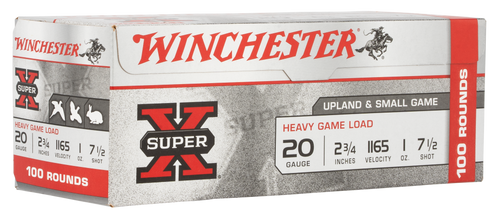 "Winchester Super-X High Brass Game 20 Ga, 2.75"", 1oz, 7.5 Shot, 100rd Box (Value Pack)"